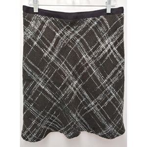 Liz Claiborne Black Plaid Skirt Size 12P